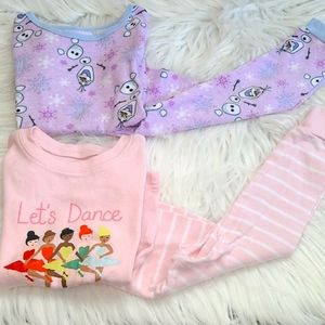 Lot of 2 girl pajama sets- 2T-3T